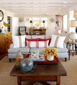 """A bit of red in every room from the blog """"The Inspired Room"""""""