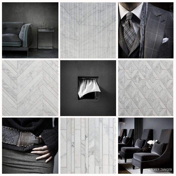 Charcoal Mosaic Design
