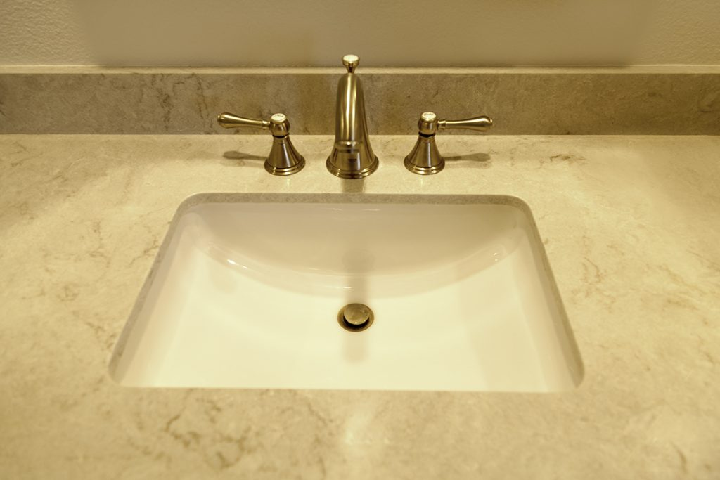 bathroom faucet polished nickel