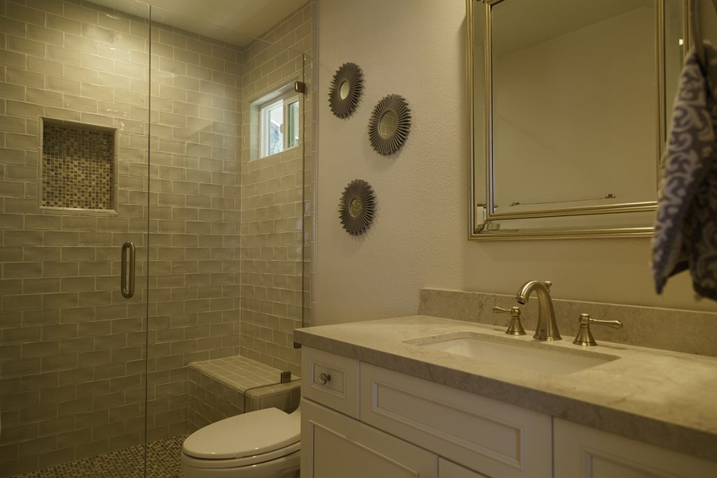 Beyond The Master Bath A Traditional Look For A Guest And Jack - Bathroom remodel thousand oaks