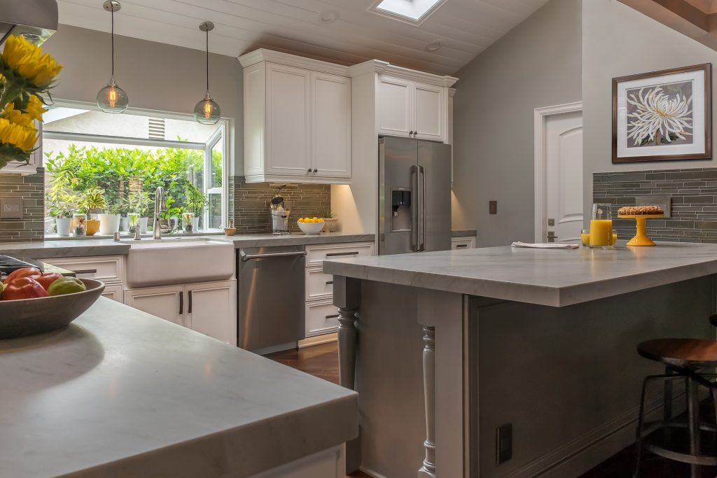 Gray and White Kitchen Design